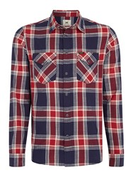 Lee Men's Checked Shirt Navy And Red Navy And Red