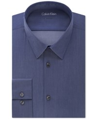 Calvin Klein Men's X Big And Tall Extra Slim Fit Stretch Denim Dress Shirt