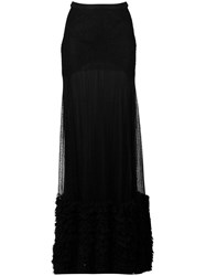Amen Lace Maxi Skirt Black