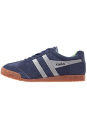 Gola Harrier Trainers Navy Grey Lime Royal Blue