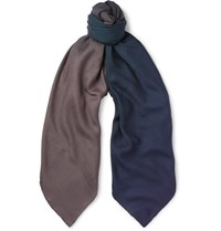 Berluti Degrade Cashmere And Silk Blend Scarf Teal