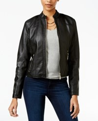 Joujou Jou Jou Perforated Faux Leather Jacket Black
