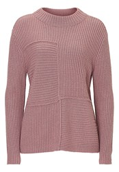 Betty Barclay Ribbed Crew Neck Jumper Pink