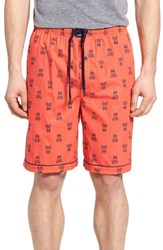 Psycho Bunny Men's Cotton Lounge Shorts Brilliant Red Bunny