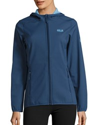 Jack Wolfskin Softshell Fleece Lined Activewear Jacket Dark Sky
