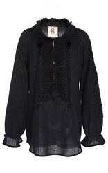 Figue Lou Lou Embroidered Onyx Top Black