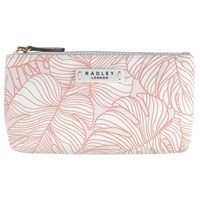 Radley Wild Palms Small Cosmetic Bag Pale Pink