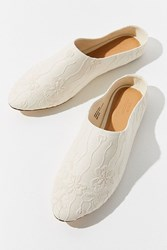 Urban Outfitters Uo Embroidered Mule Ivory