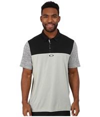 Oakley Alignment Polo Stone Grey Men's Short Sleeve Pullover Gray