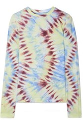 Tory Sport Tie Dyed Stretch Jersey Top Blue