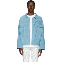 Off White Blue Suede Taft Point Jacket