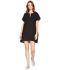 Allen Allen Solid Boxy Pullover Dress Black