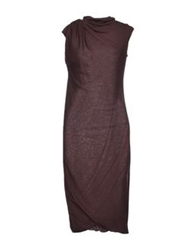 Malloni 3 4 Length Dresses Dark Brown