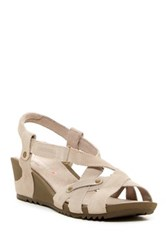 Merrell Revalli Cross Wedge Sandal Beige