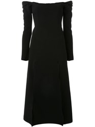 Christopher Esber 'Owl' Shoulderless Dress Black