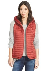 Ugg Outerwear 'Rene' Hooded Quilted Vest Redwood