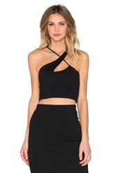 Donna Mizani X Front Crop Top Black