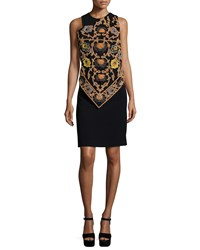 Etro Embroidered Handkerchief Dress W Beading Black Women's