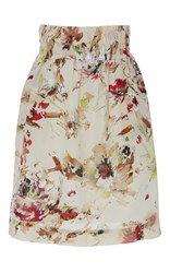 Tomas Maier Ruched Mini Skirt Floral
