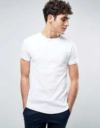 Bellfield Muscle Fit T Shirt In Waffle White