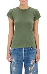 Re Done Women's 1960 Slim Fit T Shirt Green