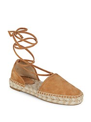 Frye Leo 2 Piece Espadrille Leather Flats Cement