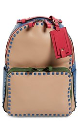 Valentino 'Rockstud' Colorblock Backpack