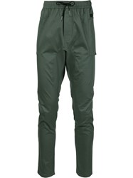 Zanerobe Elastic Waistband Lateral Pockets Trousers Green