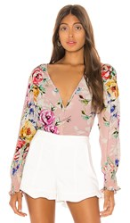 Yumi Kim Check Mate Blouse In Pink. Lovers Bouquet Pink