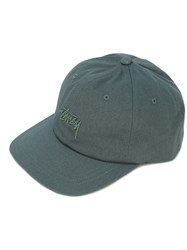 Stussy Embroidered Logo Cap Men Cotton One Size Green