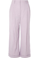 3.1 Phillip Lim Crinkled Cady Wide Leg Pants Lilac