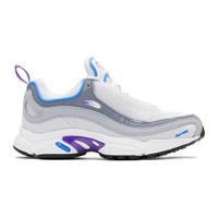 Reebok Classics White And Purple Daytona Dmx Sneakers