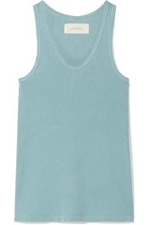 The Great Racer Distressed Cotton Jersey Tank Turquoise