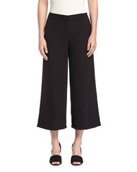 Max Studio Cropped Twill Gaucho Pants Black