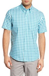 Cutter And Buck Men's Los Rios Check Wrinkle Free Sport Shirt