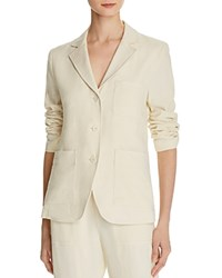 Vince Linen And Silk Blazer Vanilla
