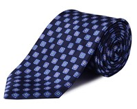 Double Two Floral Tie Blue