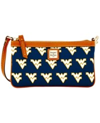 Dooney And Bourke West Virginia Mountaineers Ncaa Large Wristlet Navy