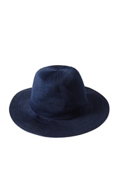Forever 21 Straw Wide Brim Fedora Navy Black
