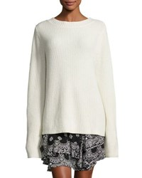 A.L.C. Markell Ribbed Wool And Cashmere Sweater White