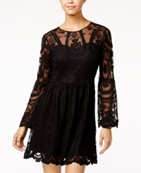 American Rag Embroidered Lace Fit And Flare Dress Only At Macy's Classic Black