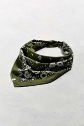 Urban Outfitters Uo Floral Paisley Bandana Olive
