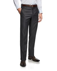 Santorelli 130S Wool Dress Pants Charcoal