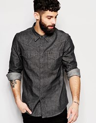 Lee Denim Shirt Slim Fit Western Clean Grey Grey