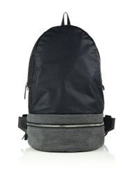 Z Zegna Popeline Gym Backpack Navy Grey