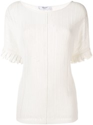 Blugirl Short Sleeve Embroidered Top White