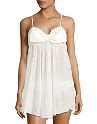 Kate Spade Dot Chemise And Ruched Panties Set White