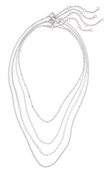 Bp. 4 Pack Chain Necklaces Silver