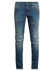 Dolce And Gabbana Distressed Skinny Jeans Denim
