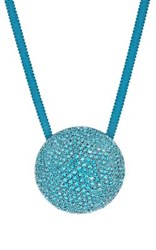 Dries Van Noten Women's Embellished Pendant Necklace Turquoise